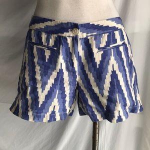 Kenar Blue:white linen shorts Sz us 8